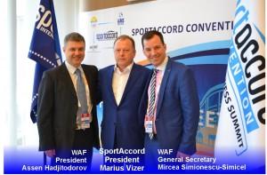 Presidente WAF, presidente SportAccord y secretario general WAF